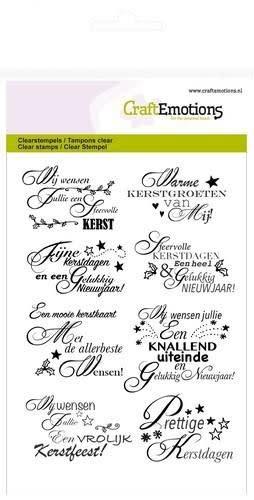 CraftEmotions clearstamps A6 - tekst NL kerstwensen