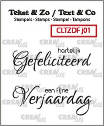 Crealies Clearstamp Tekst & Zo Font Jarig no. 1 (NL) CLTZDFJ01 2x 15 x 42 mm