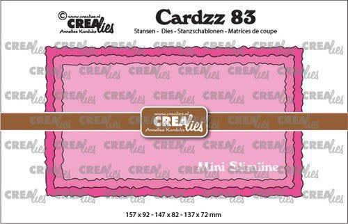 Crealies Crealies Cardzz no 83 Mini Slimline C ruwe randen CLCZ83 157x92mm