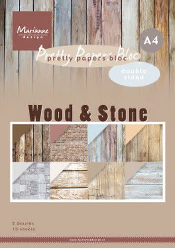 Marianne D Marianne D Paperpad Wood Stone A4 PK9170 A4