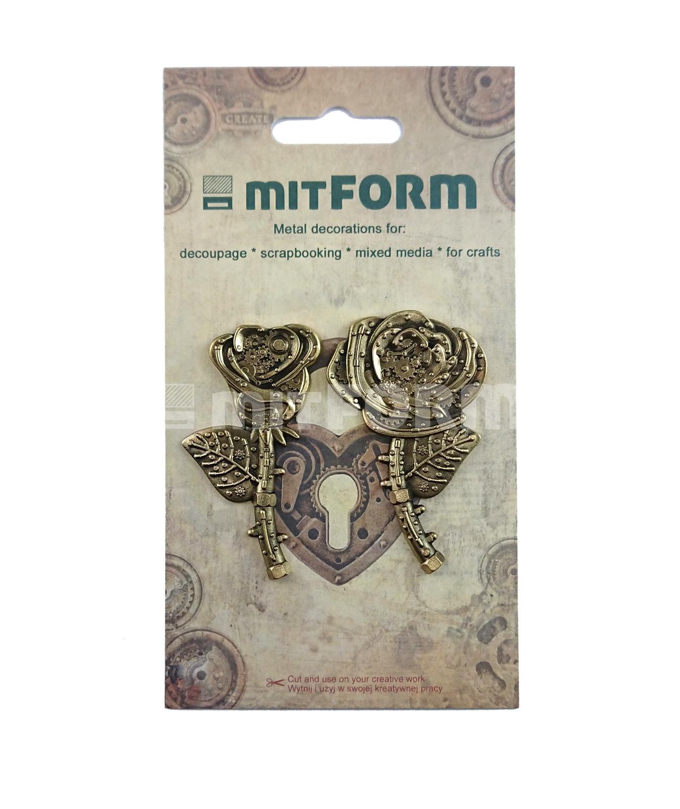 Mitform Mitform Flowers 1 Metal Embellishments (MITS058)