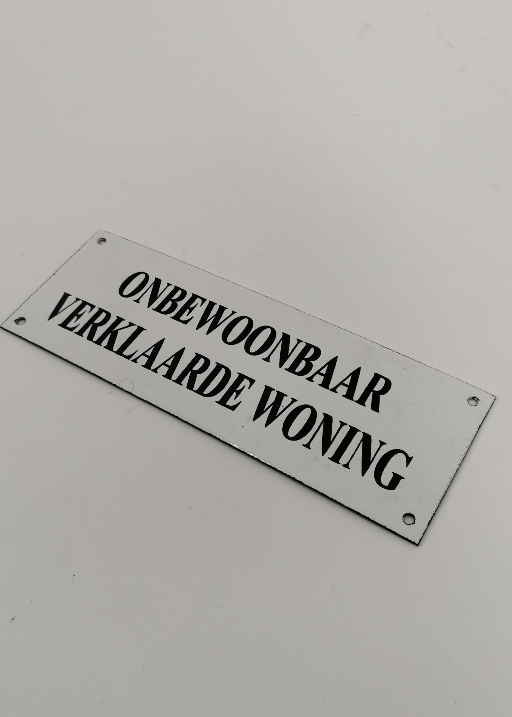 Emaille bord  woning