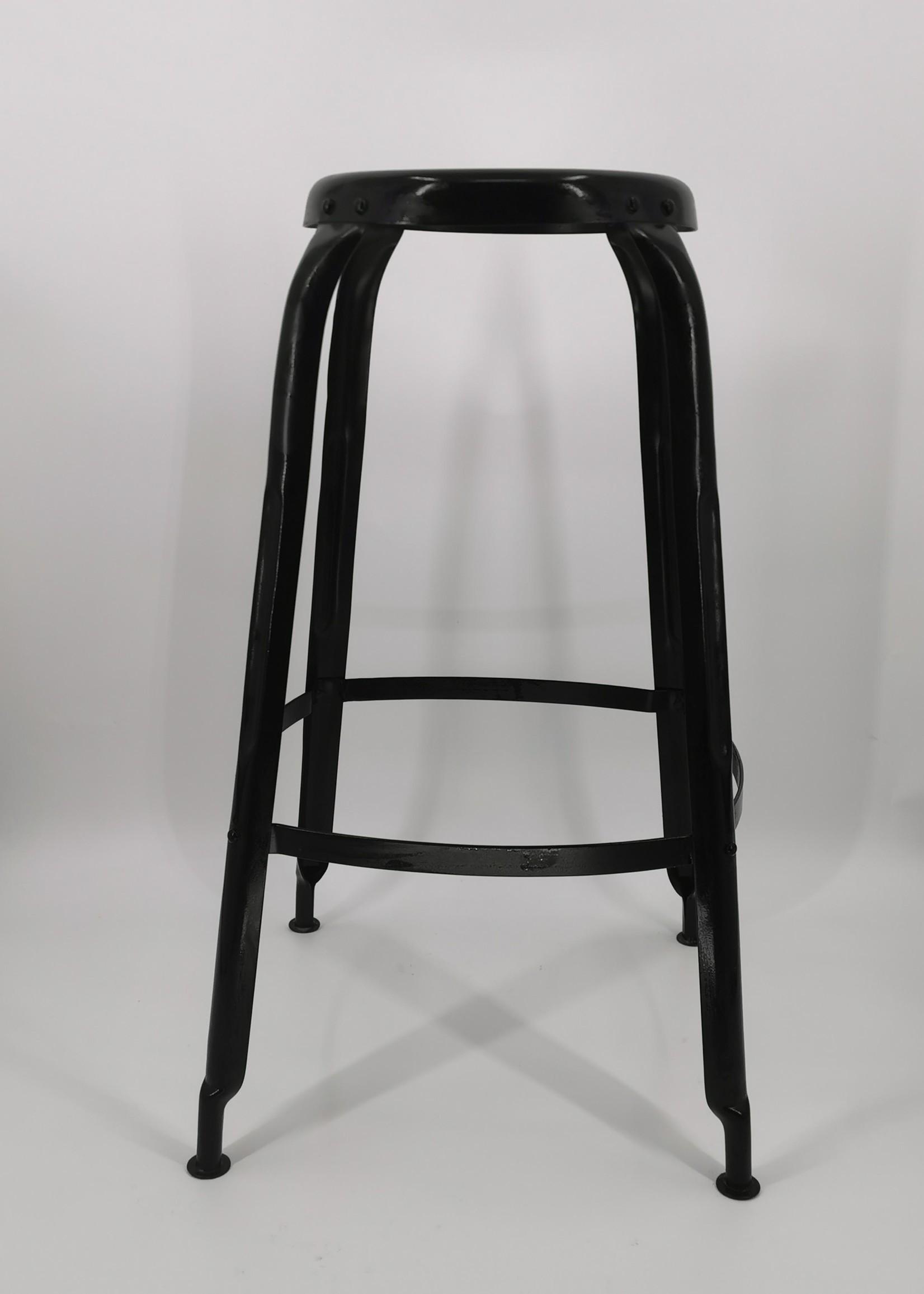 Zwarte vintage kruk