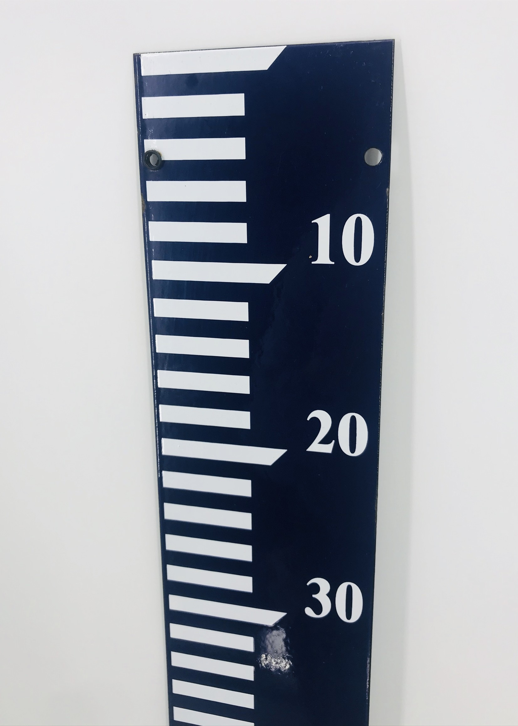 Emaille waterstand meter