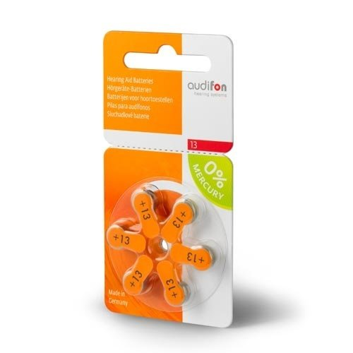 Audifon Audifon 13 (PR48) Oranje  hoortoestel batterij