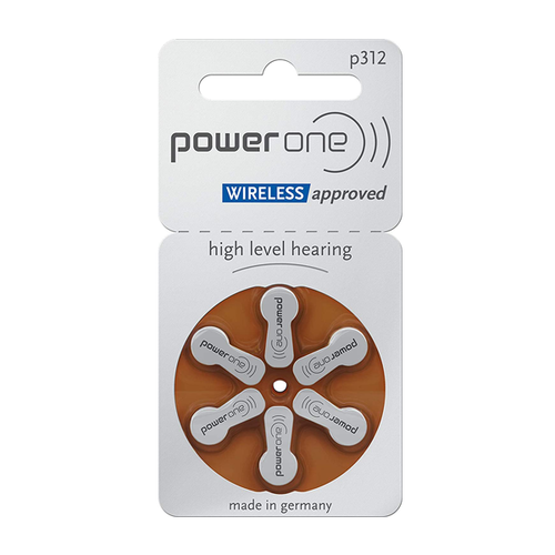 Power One Powerone P312 (PR41) Bruin hoortoestel batterij