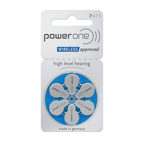 Power One Power One 675 (PR44) Blauw hoortoestel batterij