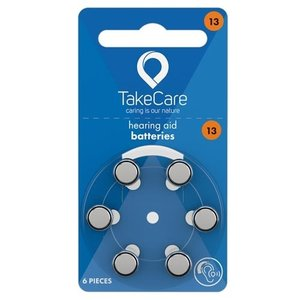 TakeCare TakeCare 13 (PR48) Oranje batterij gehoorapparaat
