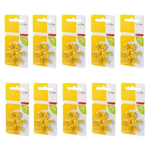 Audifon Audifon 10 (PR70) Geel hoortoestelbatterij - Voordeelpakket