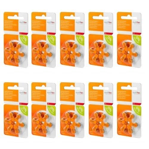 Audifon Audifon P13 (PR48) Oranje hoortoestelbatterij - Voordeelpakket