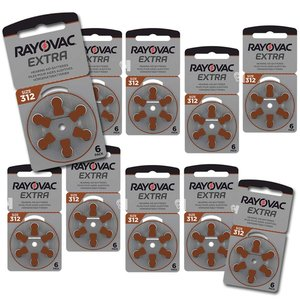Rayovac Rayovac Extra Advanced 312 Bruin (PR41) Voordeelpakket
