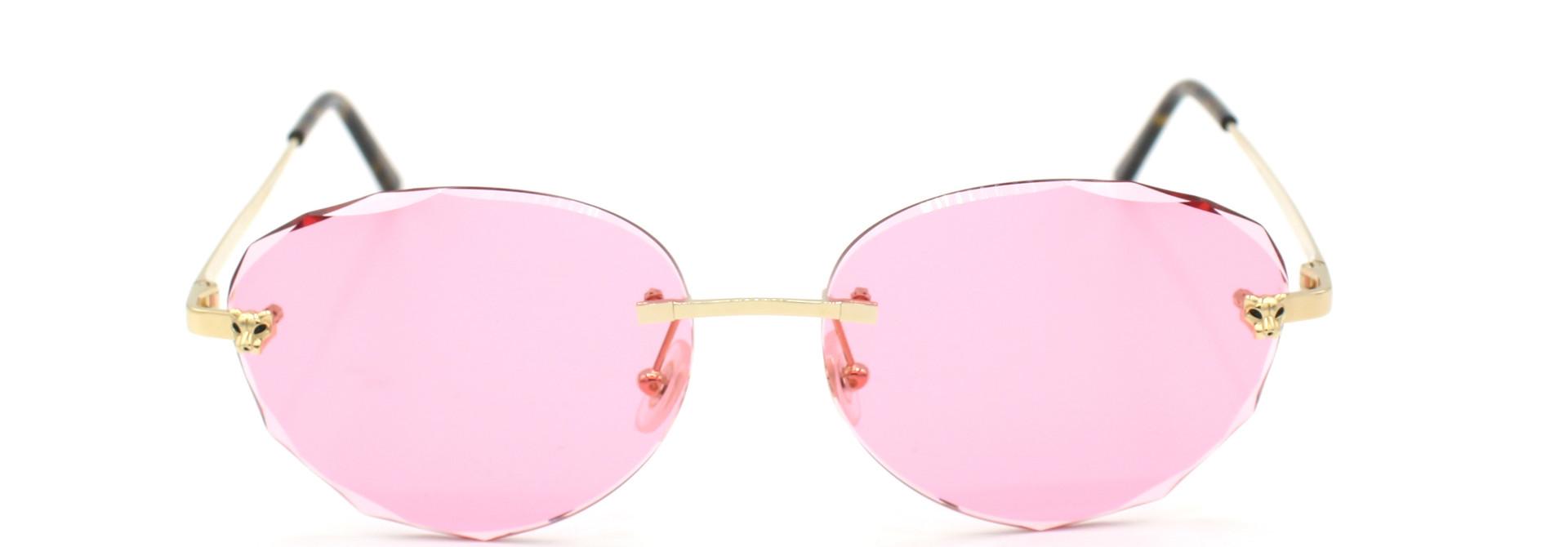 Cartier - CT0148O Panthere - Pink Diamond Cut - 001
