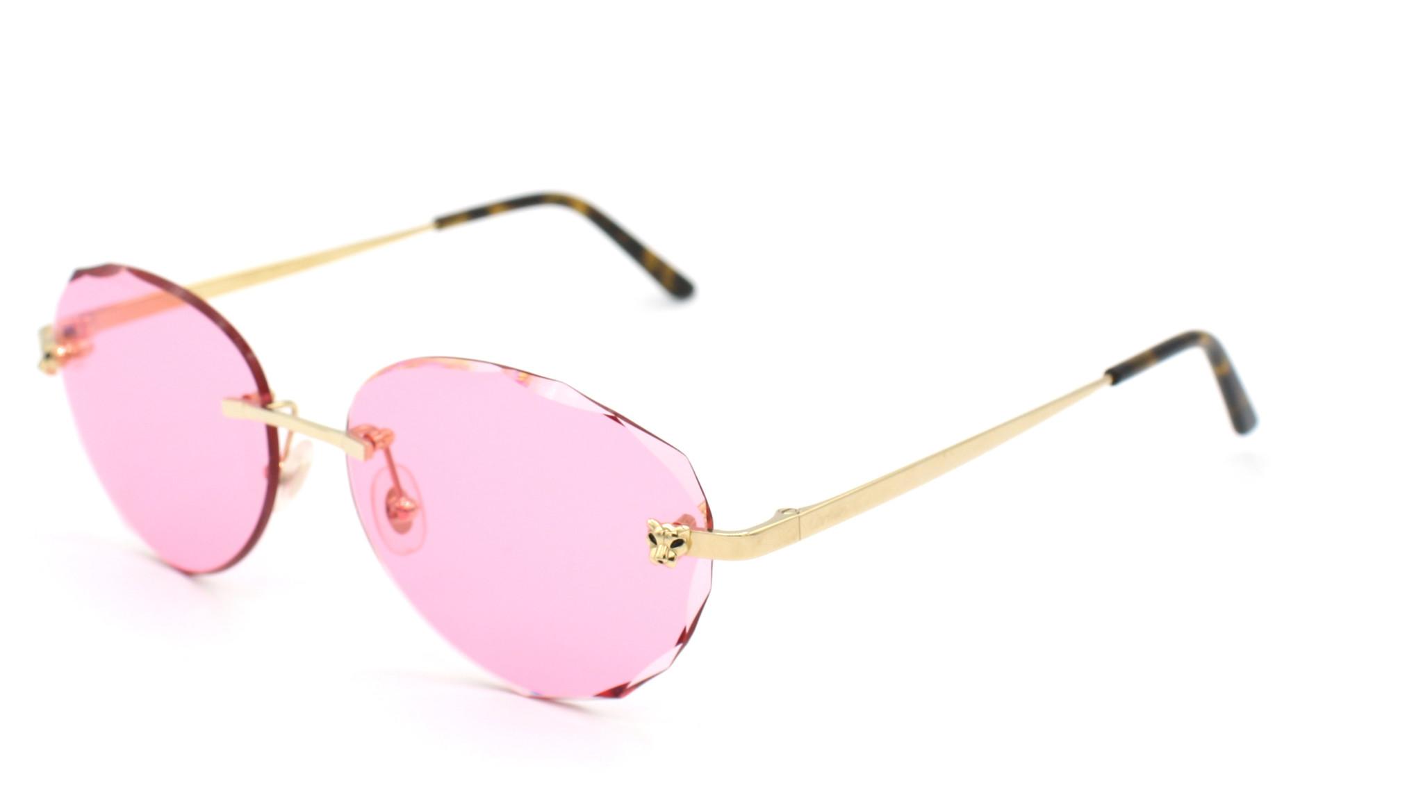 Cartier - CT0148O Panthere - Pink Diamond Cut - 001-2