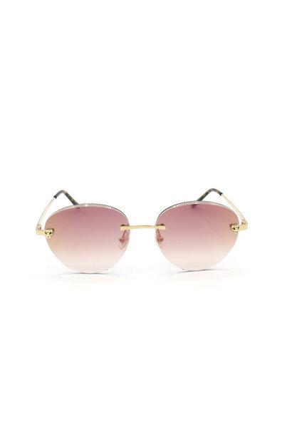 Cartier - CT0148O Panthere - Mirror Pink Diamond Cut Degrade  - 001