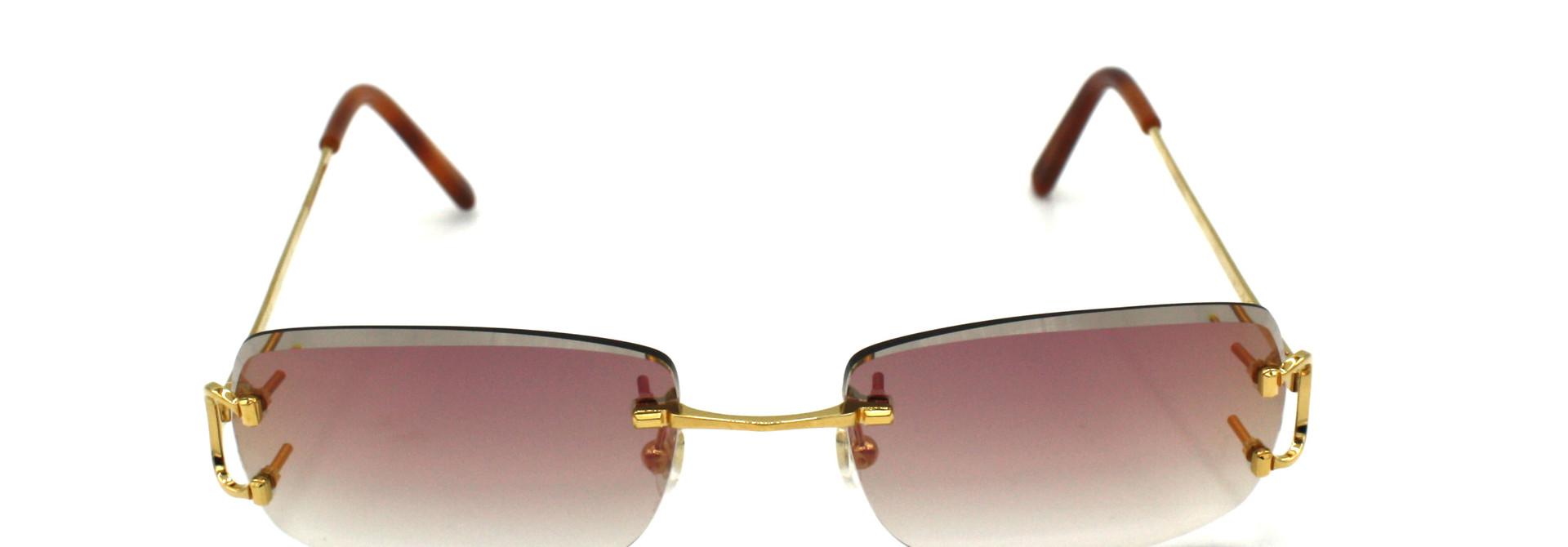 Cartier - CT0092O - 001 Maroon Coppershine Diamond Cut
