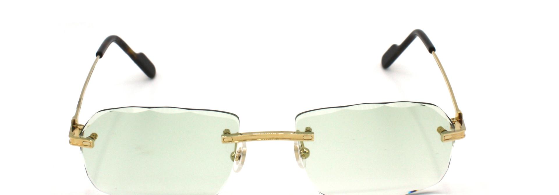 Cartier - CT0259O - 002 Light Green Special Diamond Cut