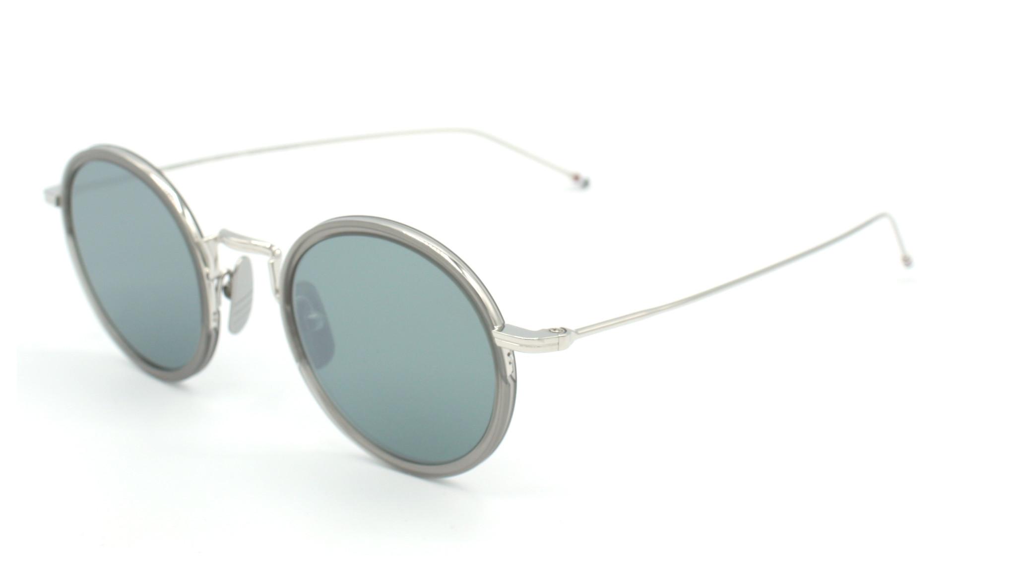 Thom Browne - TBS906-46-03 - TB-906 // Satin Crystal Grey - Silver w/ Dark Grey - Silver Flash Mirror AR-2