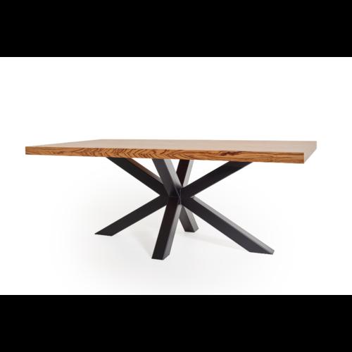Een zebrano tafel op maat gemaakt!