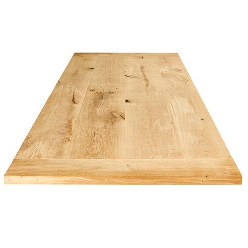 Kies uw eiken tafelblad op maat gemaakt.