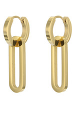 Oorbel Hanger Closed Zilver/Goud