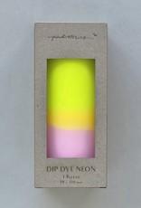 Pink Stories Dip Dye Neon kaars (Vegan) - Vanilla Sky