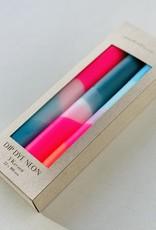 Pink Stories Dip Dye Neon kaars (Vegan) - Blue Moon