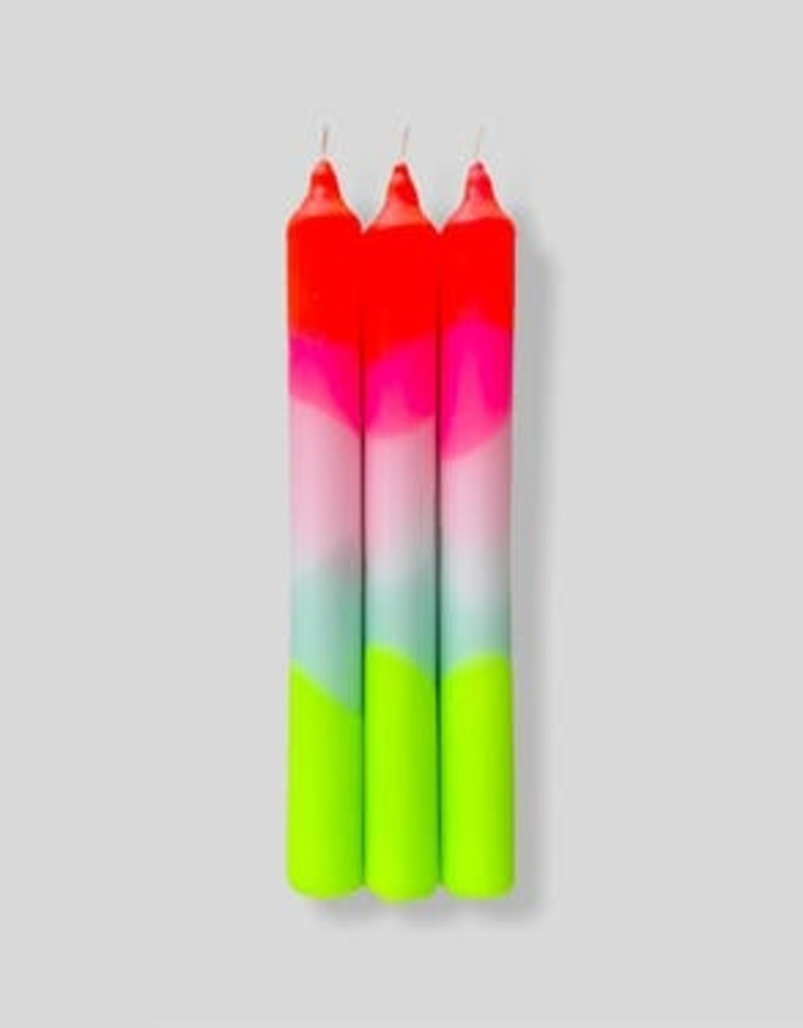 Pink Stories Dip Dye Neon kaars (Vegan) - Lollipop Trees