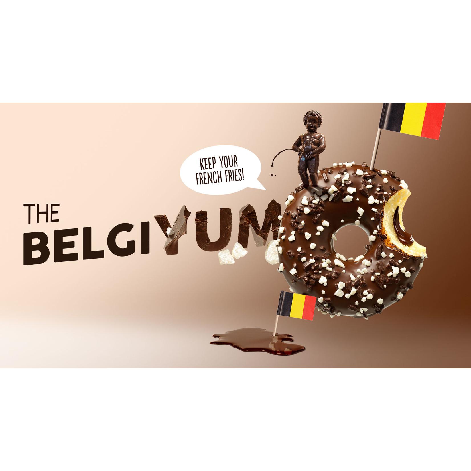 donut worry be happy Donut The Belgium chocolandevulling