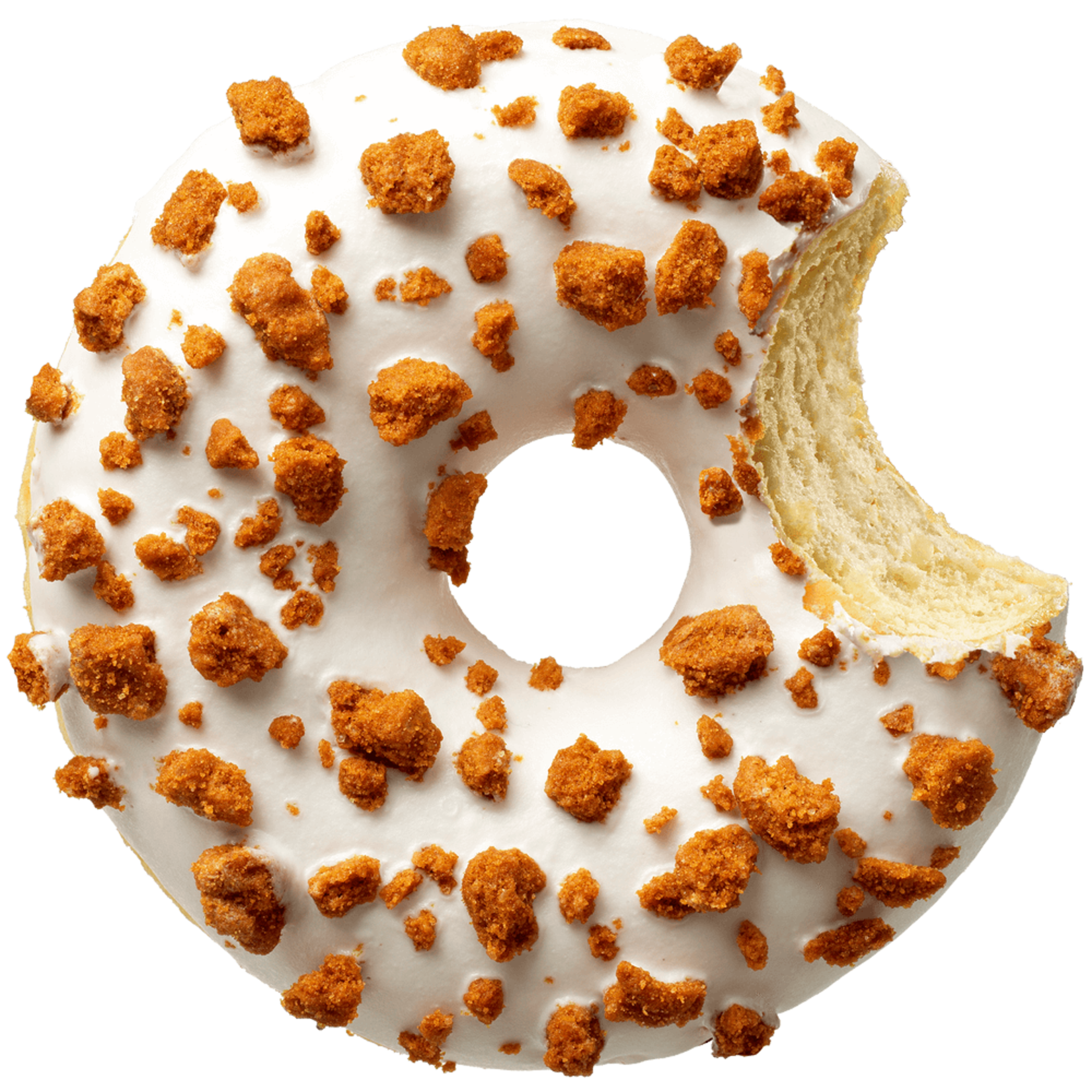 donut worry be happy DONUT WIT MET SPECULOOSCRUMBLE