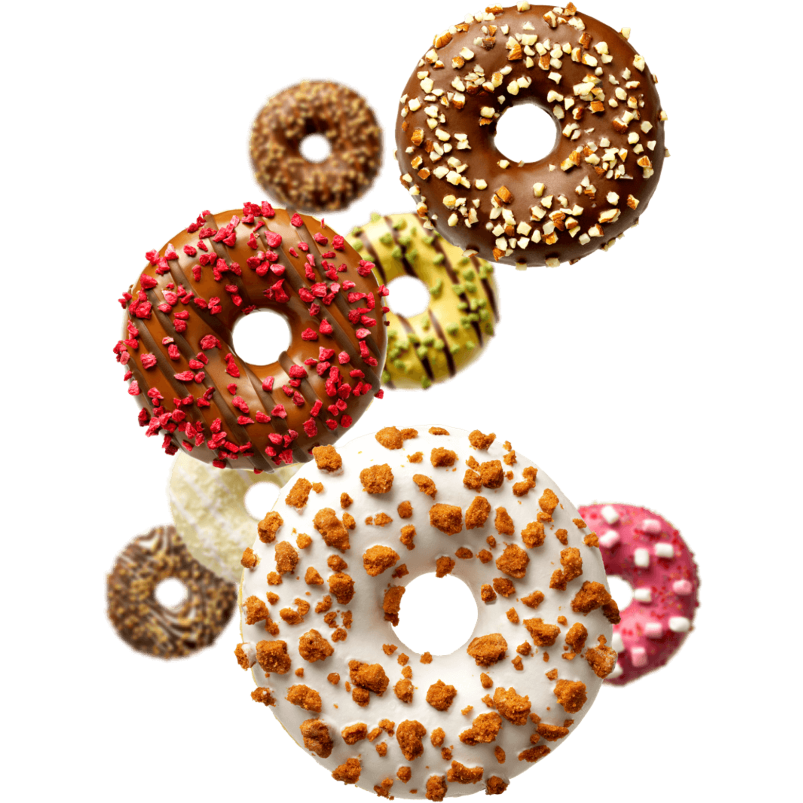 donut worry be happy DONUT AARDBEIVULLING MET WITTE CHOCOLADE