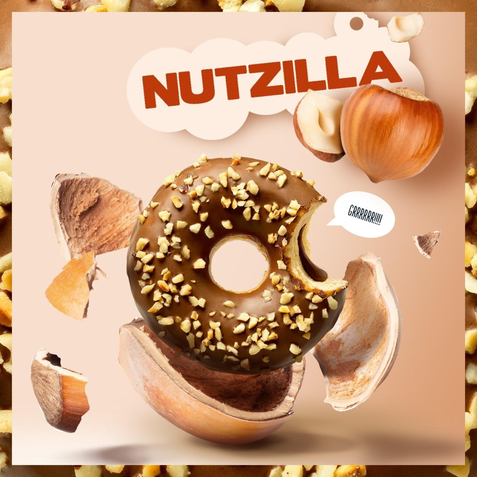 donut worry be happy DONUT HAZELNOOTVULLING & CRUNCH