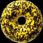 donut worry be happy Donut Banana Dark Sprinkles