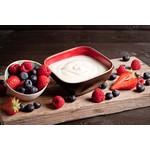 Bio-yoghurt met verse bosvruchten