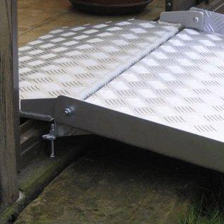Drive-in Ramp, overbrug met deze oprijplaat uw raamkozijn of schuifpui