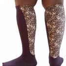 Xpandasox  Effen sokken met luipaard panel