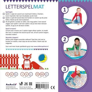Kakels Letterspelmat 170 X 140 Cm Blauw