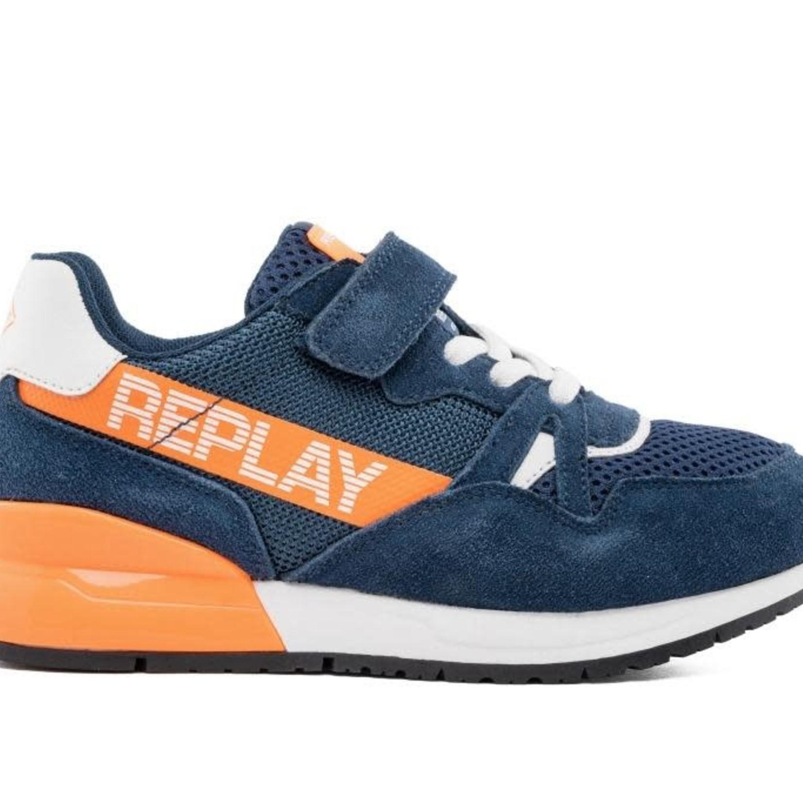 Replay Glazov Blauw/oranje