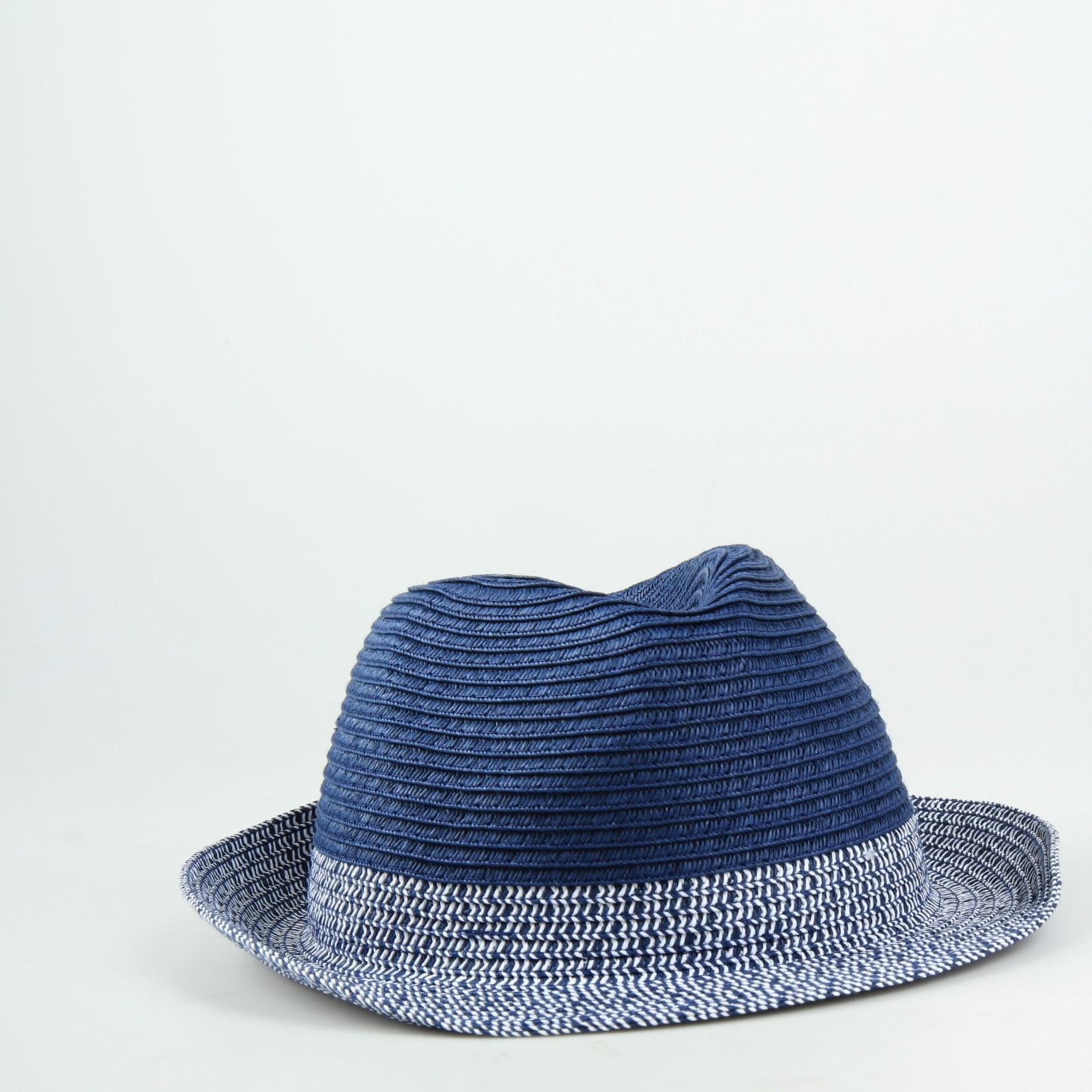 Strohoed Blauw/wit