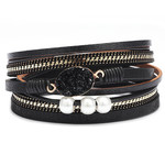 Armband met natuursteen Zwart