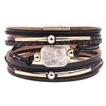 Armband met zoetwaterparel Zwart