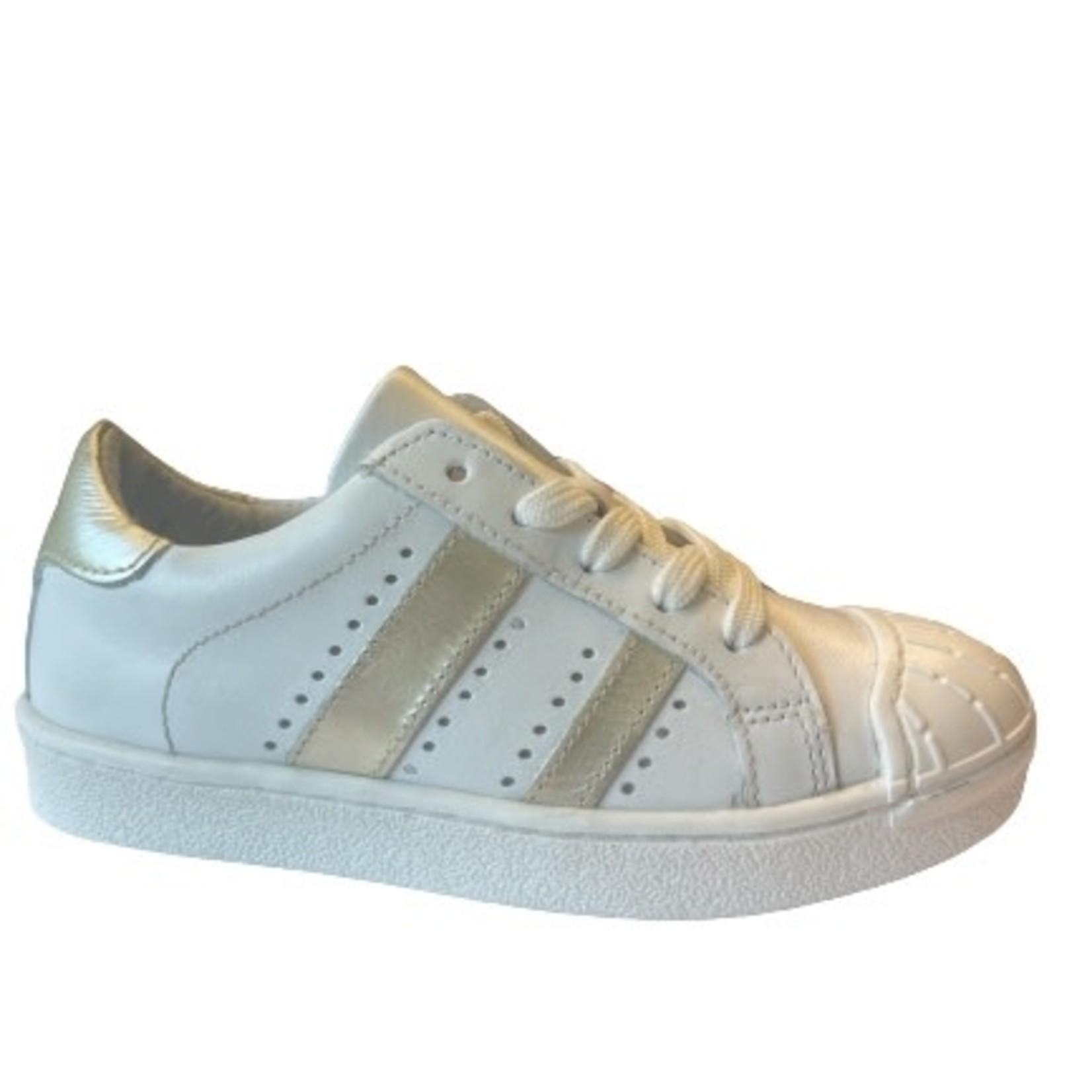 Sneaker Wit/goud streep