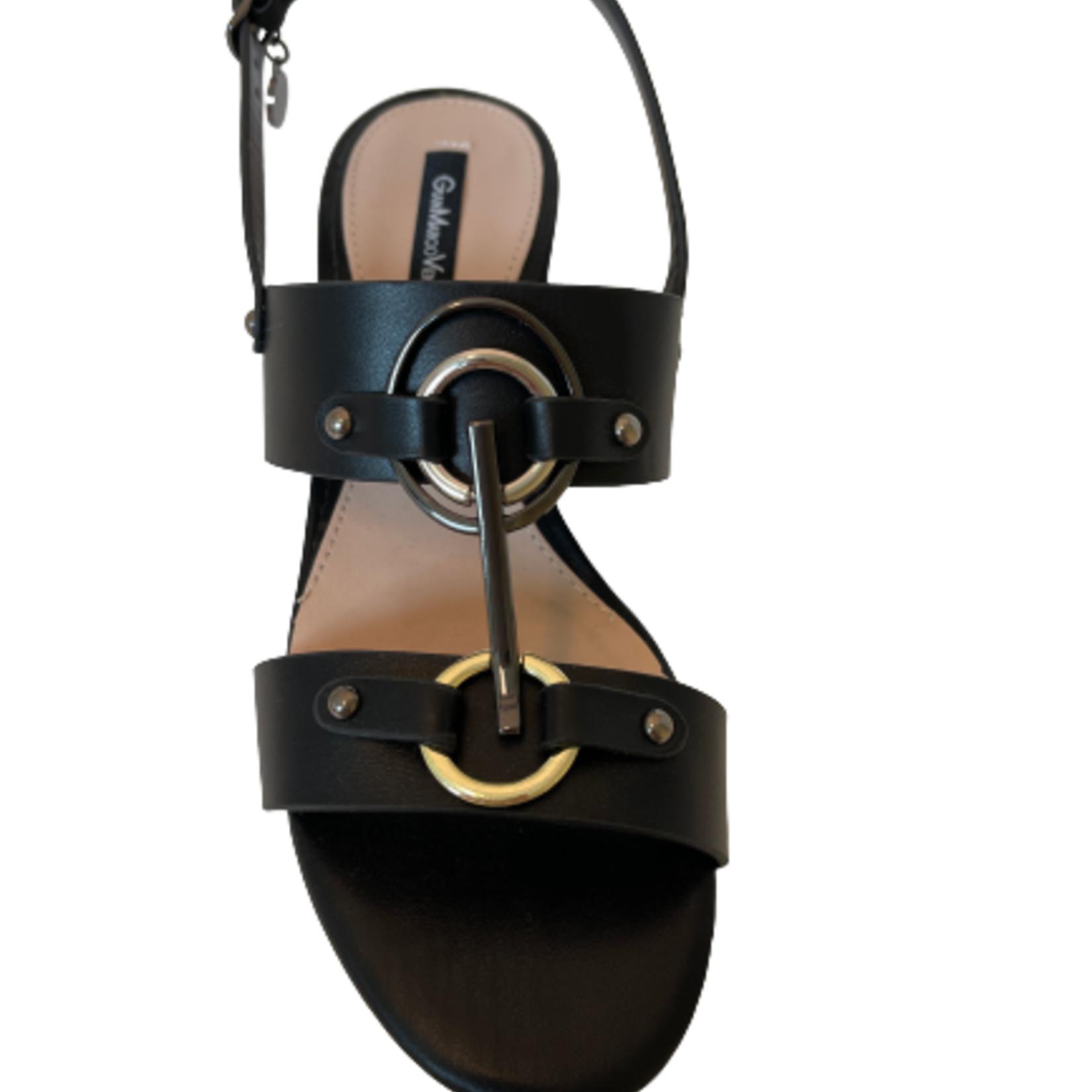 Sandaal hak Zwart