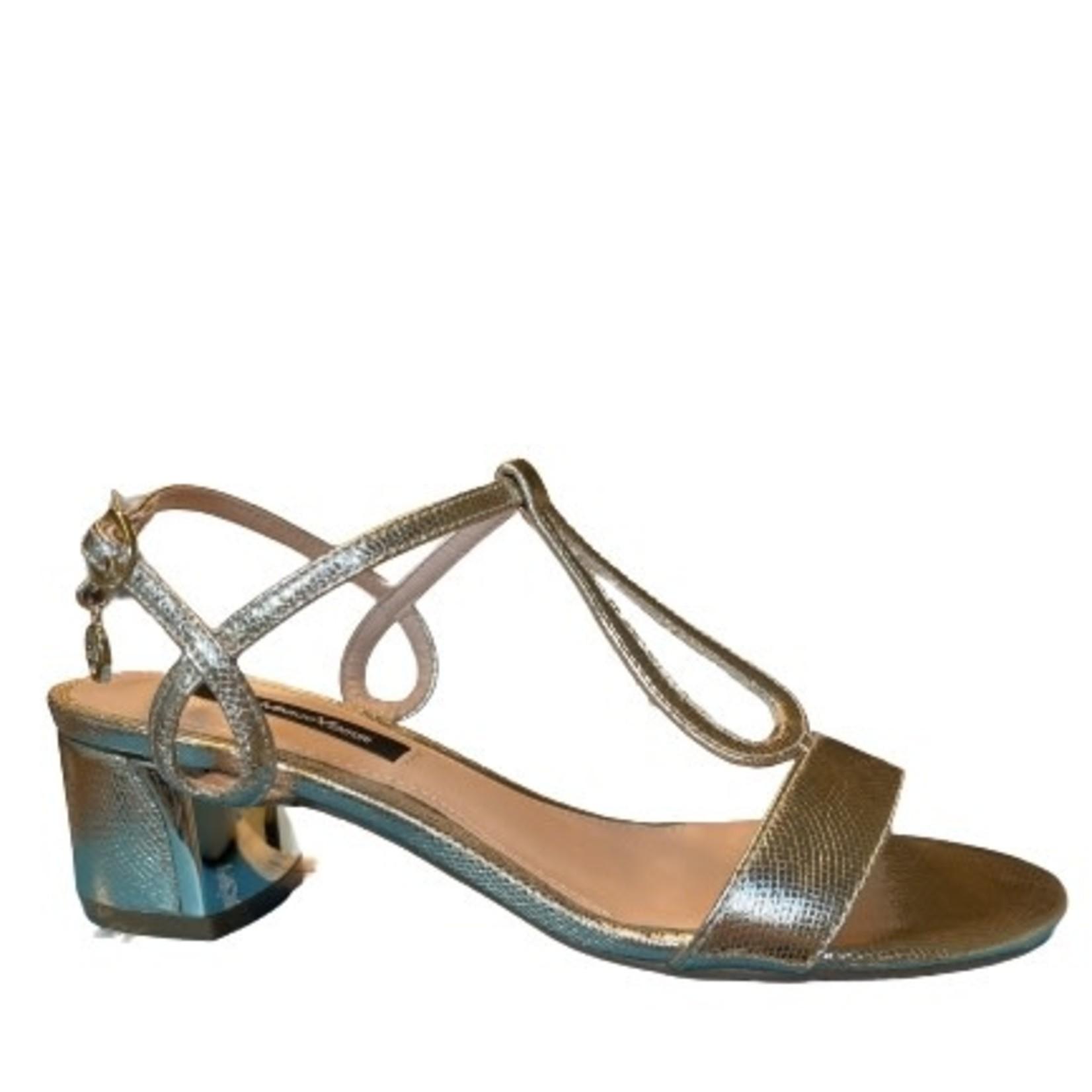 Sandaal hak Goud