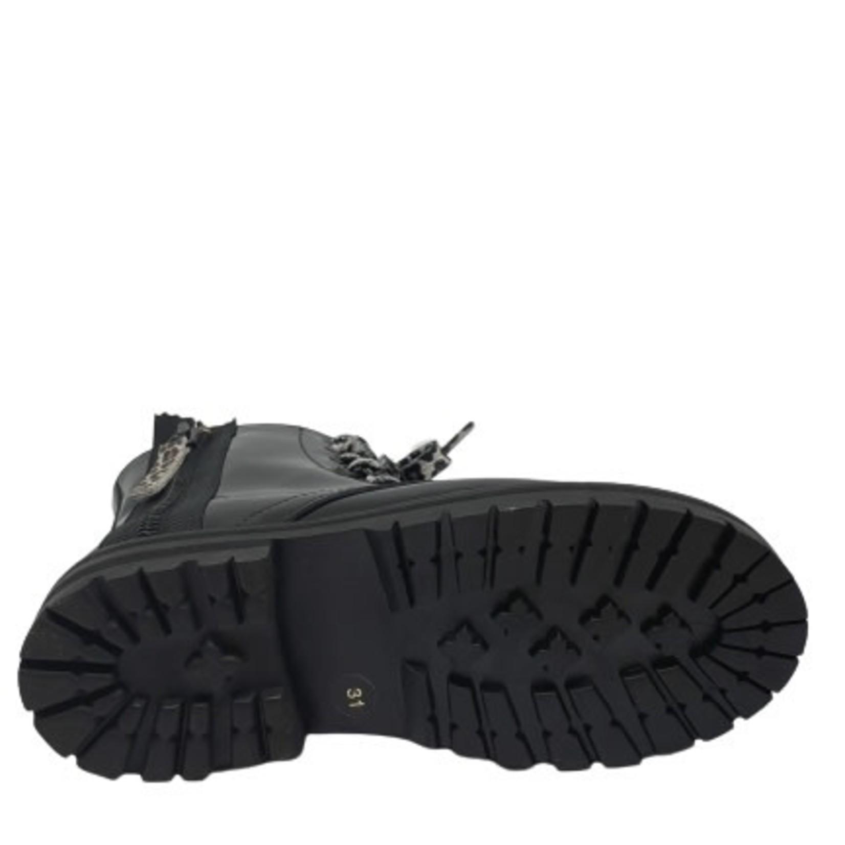 Hoge schoen Zwart lak