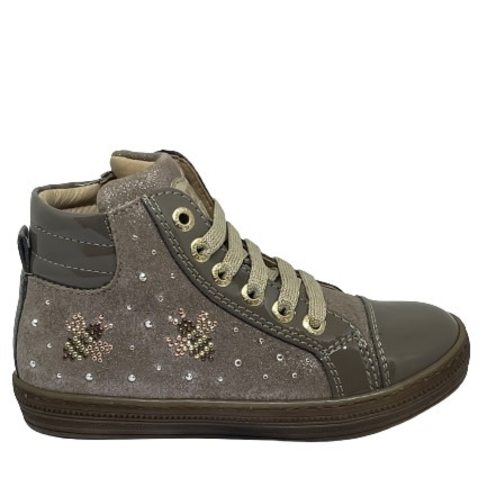 Lunella Lunella Hoge schoen Beige/glitter