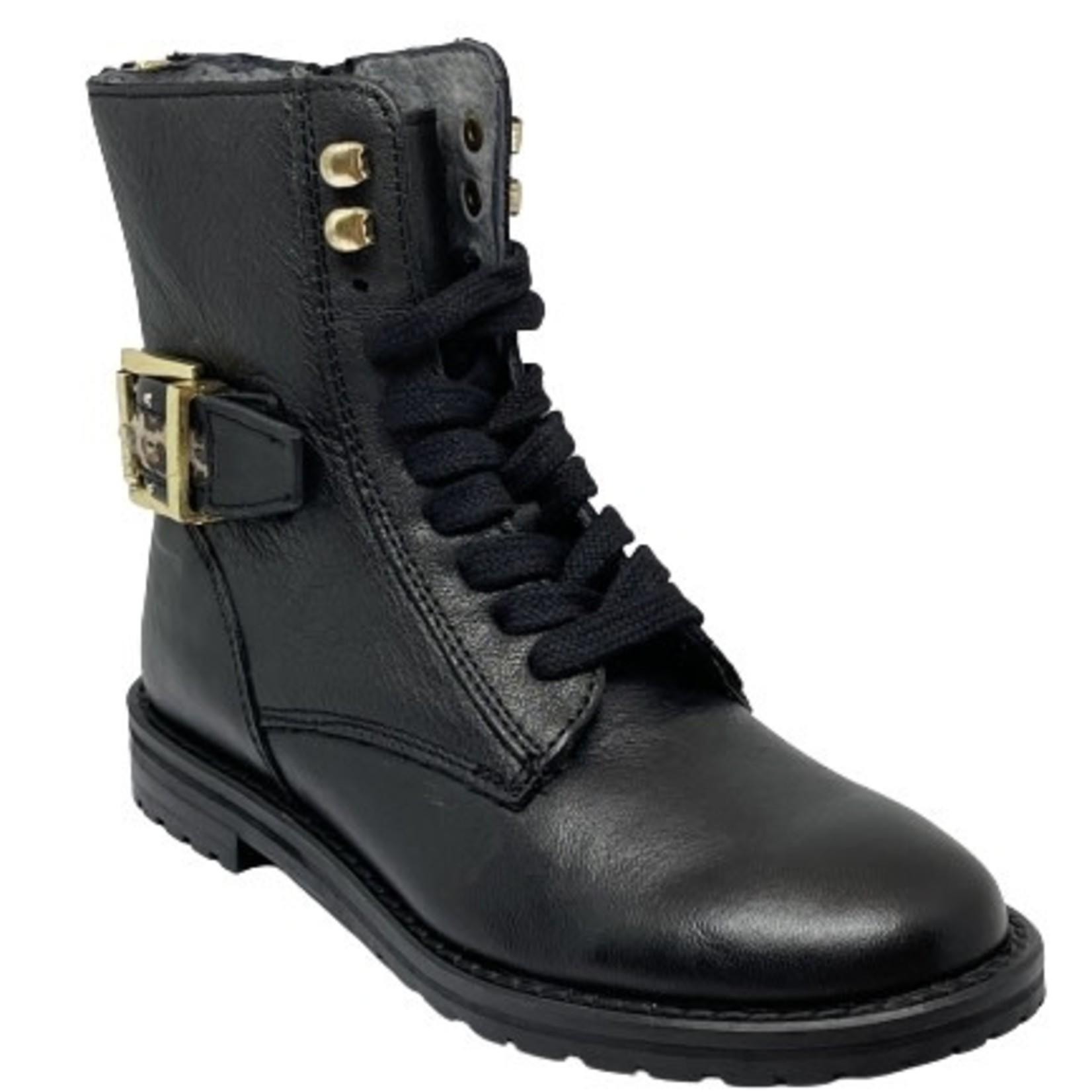 Hoge schoen Zwart/leo