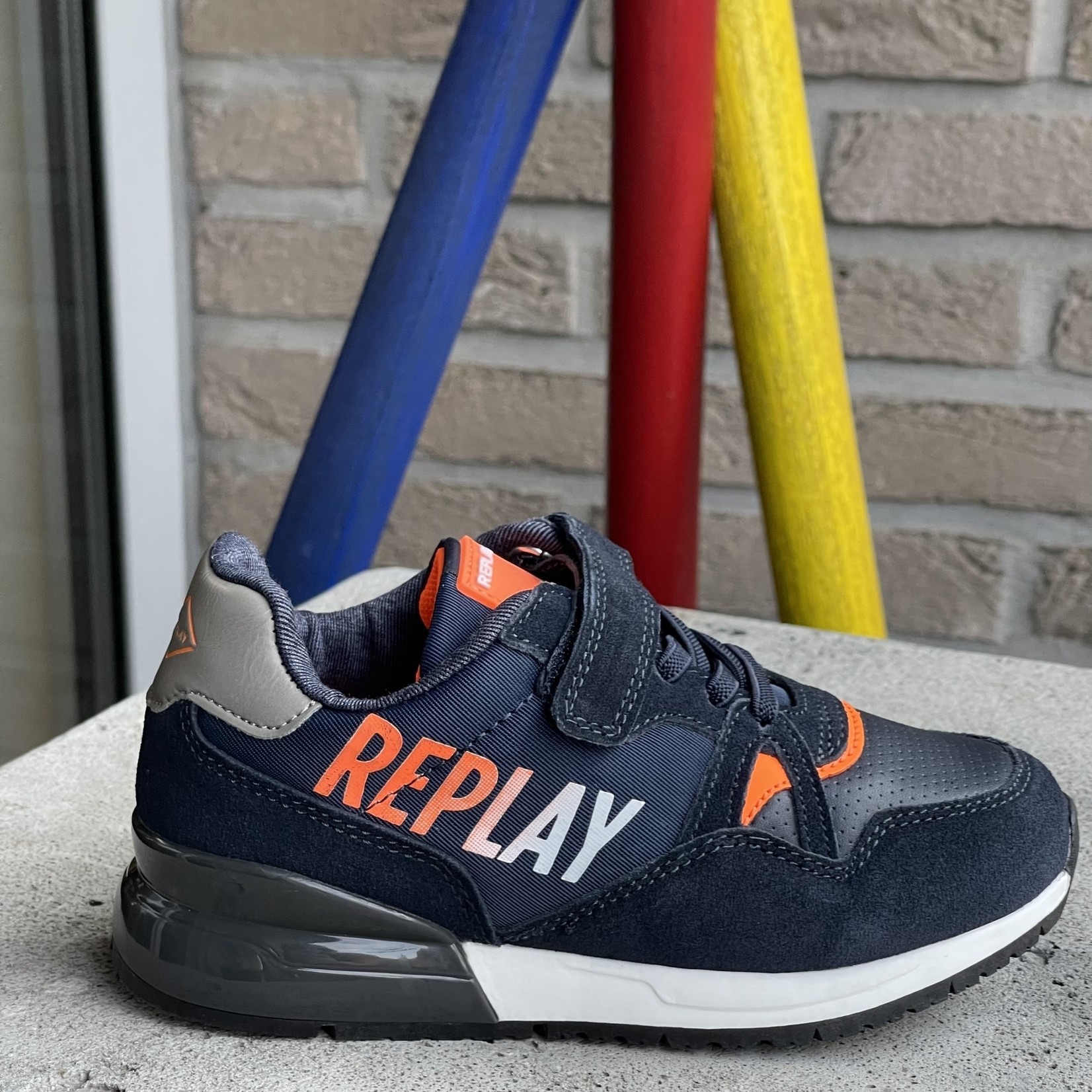 Replay Replay Coulby Blauw/fluo