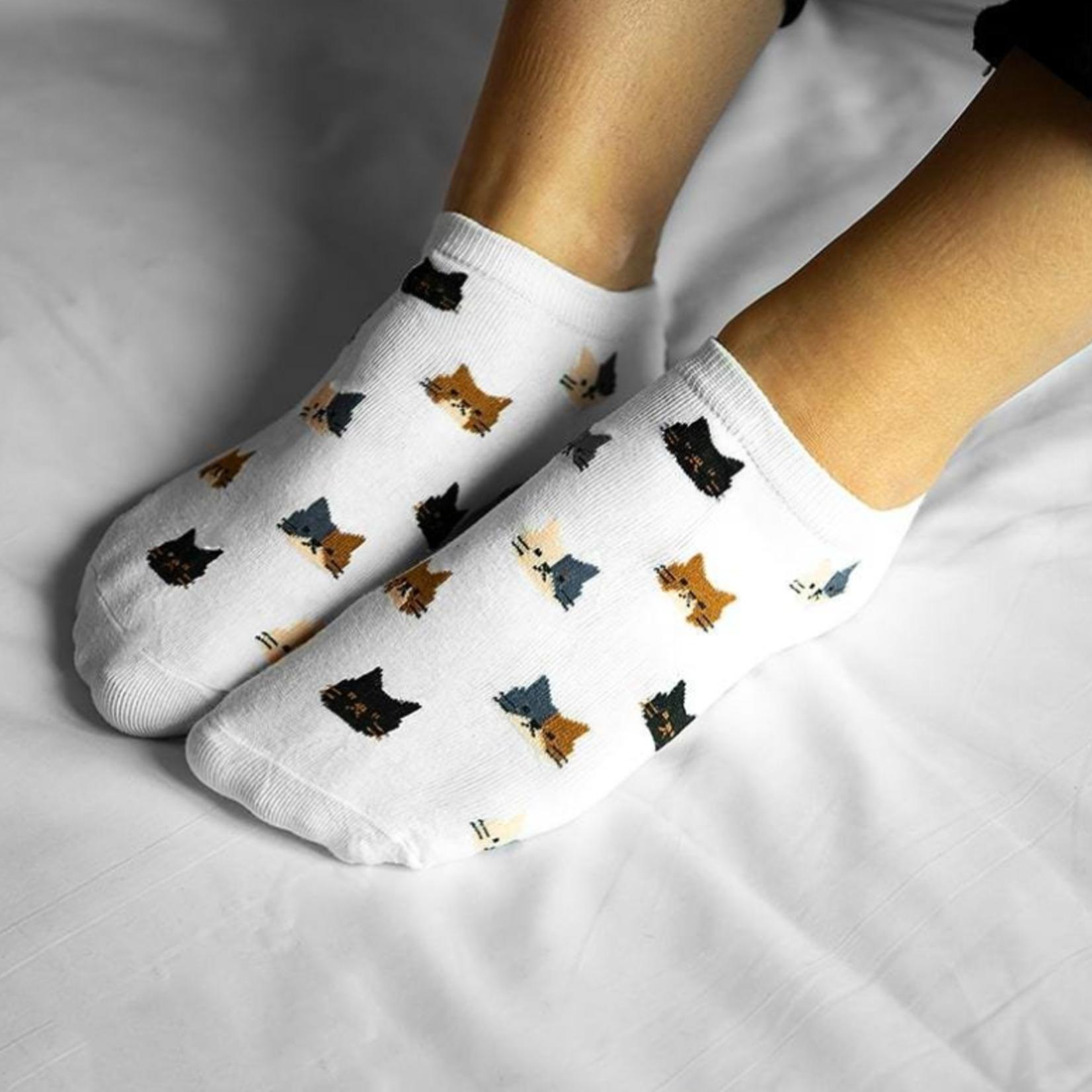 Sneakersok Katjes Wit