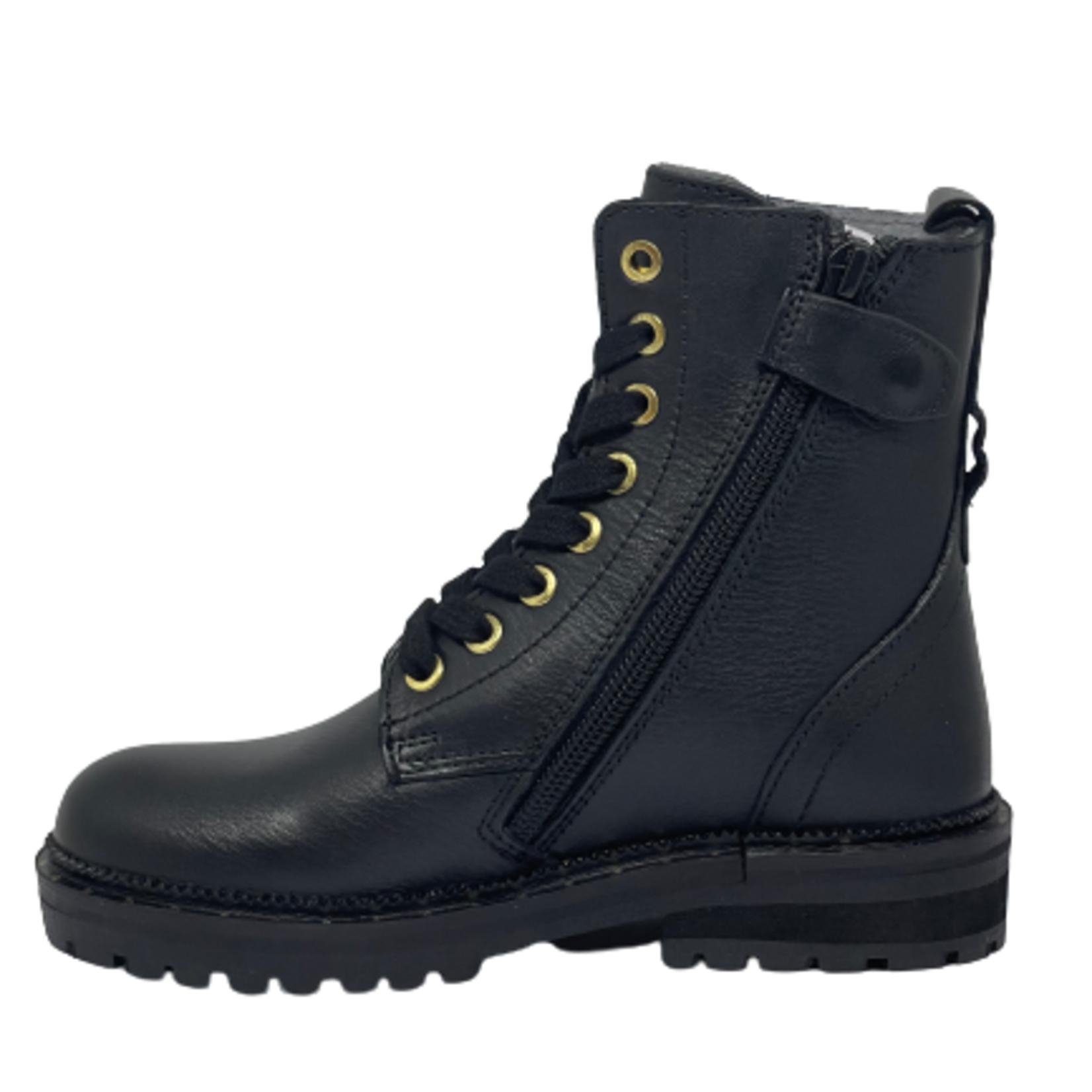 Jopper Hoge schoen Zwart/streep goud