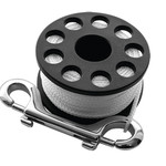Scubapro MINI REEL SMALL, with approx. 15 m rope and brass hook,
